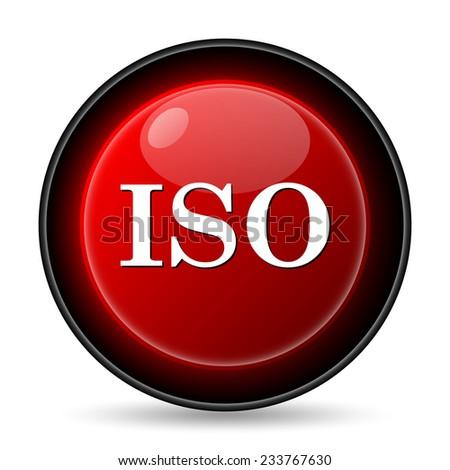 ISO icon. Internet button on white background.  - stock photo