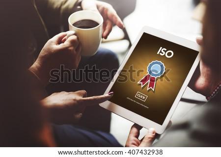 ISO International Standards Organization Quality Concept - stock photo