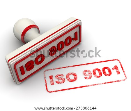 ISO 9001. Seal and imprint - stock photo