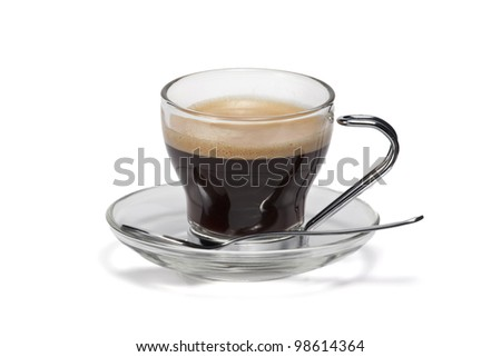 Isoalted coffee cup - stock photo