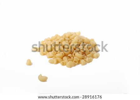 Isolaed handful of noodles on white background - stock photo