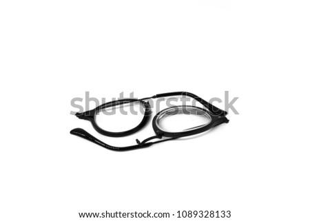 Isolate Broken Eye Glasses On White Stock Photo (Royalty Free ...