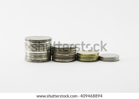 isolate coin stack