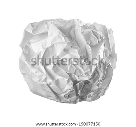 Isolate Crumple Paper - stock photo
