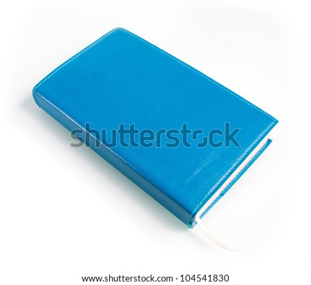 Isolate diary on white background