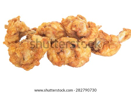 Isolate fried chickens