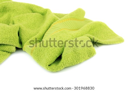 isolate, light green towel