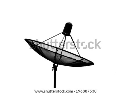 isolate Satellite dish with white background