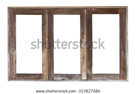 Isolate Transom Weathered Old Wooden Window Stock Photo (Download ...