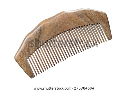 Isolate Wooden Comb - stock photo