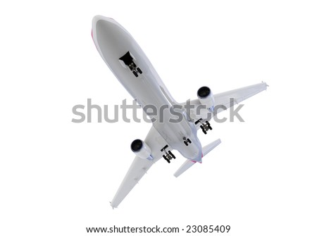 isolated airplane over white background