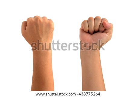 isolated all side of right Man fist  - stock photo