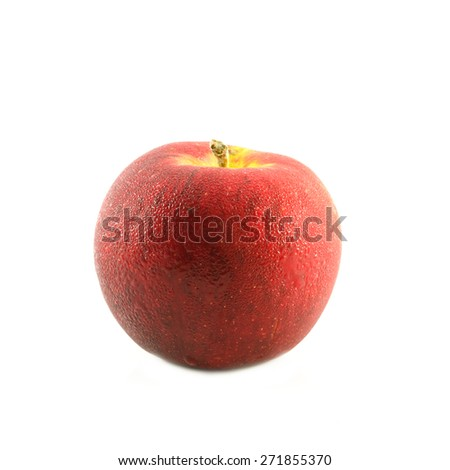 isolated an apple - stock photo