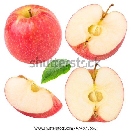 Isolated apples collection red apple pieces stock photo 474875656 shutterstock - Stukken outs ...