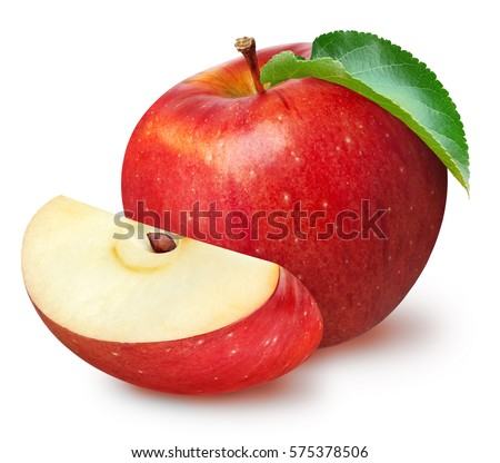 Isolated apples whole red apple fruit isolated apples whole red apple fruit with slice cut isolated on white with voltagebd Gallery