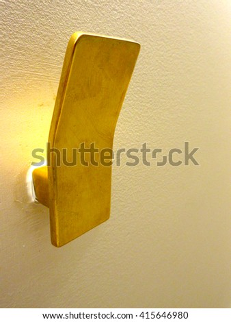 Isolated Architectural Flat Gold Hook                                - stock photo