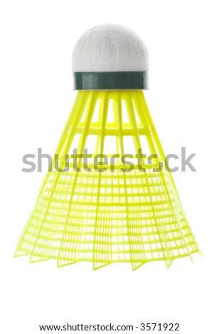isolated badminton ball - stock photo