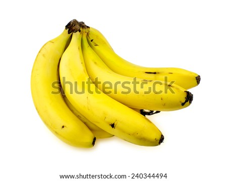Isolated bananas - stock photo