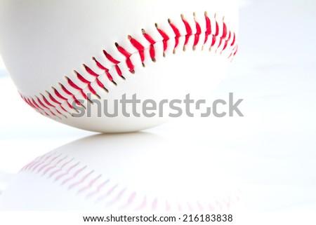 Isolated baseball on a white background - stock photo