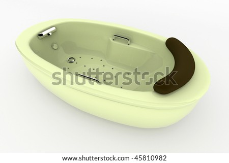 isolated bath against white background