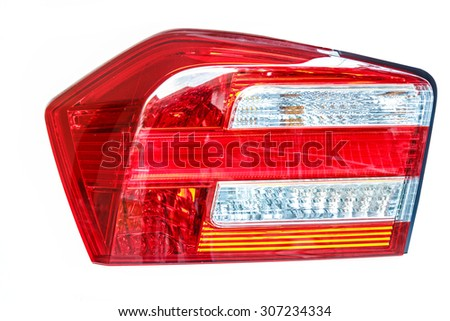 Isolated beautiful back light of the car. - stock photo