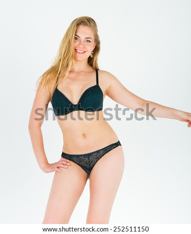 Isolated Beauty  Tempting Lady  - stock photo