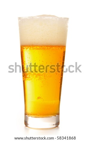 isolated beer - stock photo