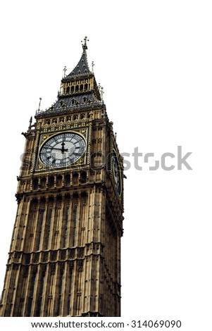 Isolated Big Ben - stock photo
