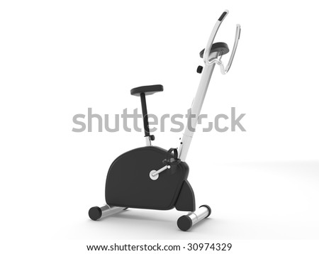 isolated bike on the white background