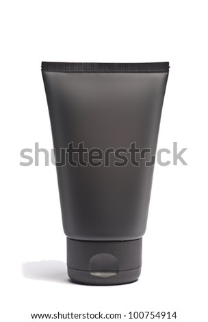 Isolated black Clean Tube Of Cream - stock photo