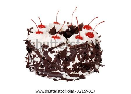 Isolated black forest cake - stock photo