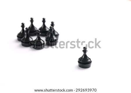 Isolated black pawn