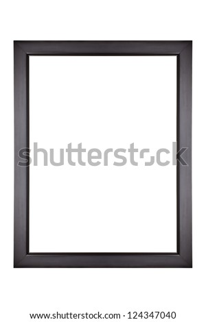 Isolated black picture frame - stock photo