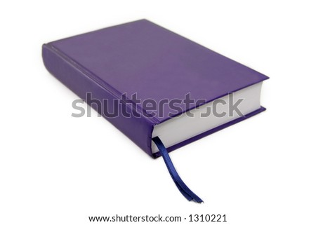 isolated blue book - stock photo