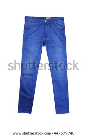 Isolated Blue jean - stock photo