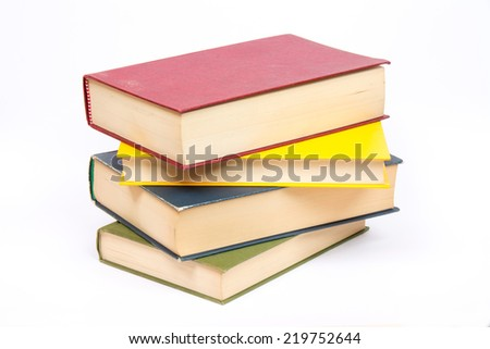 Isolated book on white background - stock photo