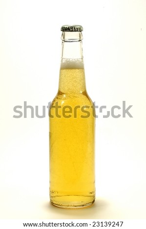 isolated bottle of lime flavored beer