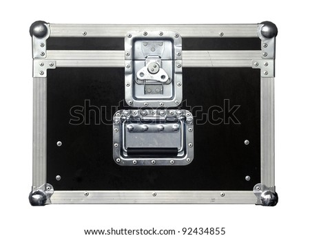 isolated box chest , common equipment for cinematography or video production