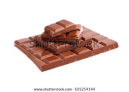 Isolated brokenness chocolate