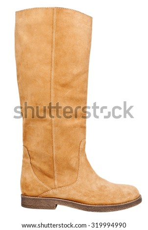 Isolated brown boot - stock photo
