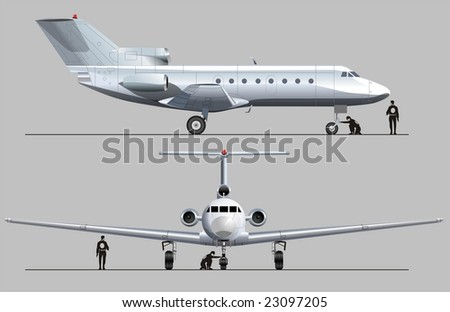 Airplane blueprint stock images royalty free images vectors isolated business jet vector version illustration see in my portfolio malvernweather Choice Image