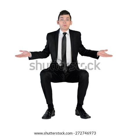 Isolated business man confused expression