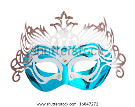 isolated  carnival mask against white background.
