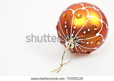 Isolated Christmas globe on white background - stock photo