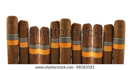 isolated cigars on white background