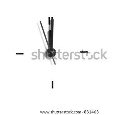 isolated clock - stock photo