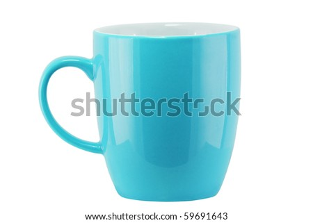 Isolated Color Cup (with clipping path) - stock photo