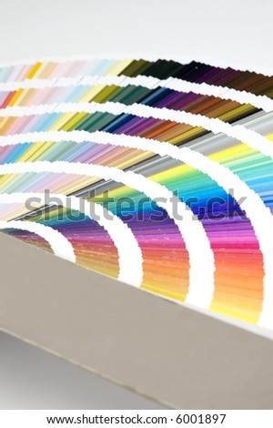Isolated color guide - chart displayed over a white background - stock photo