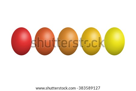 isolated Colorful Easter eggs