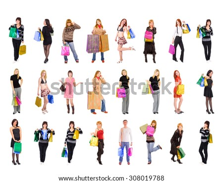 Isolated Concept Buying Things  - stock photo